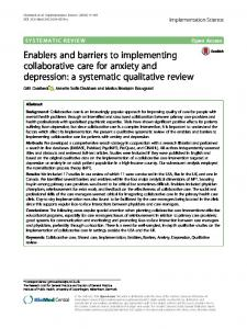 Enablers and barriers to implementing ... - Semantic Scholar