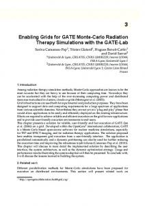 Enabling Grids for GATE Monte-Carlo Radiation ... - Creatis - INSA Lyon