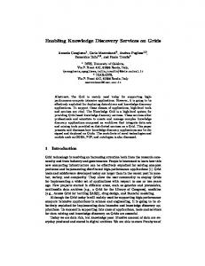 Enabling Knowledge Discovery Services on Grids - CiteSeerX