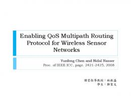 Enabling QoS Multipath Routing Protocol for Wireless Sensor Networks