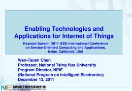 Enabling Technologies and Applications for Internet ...