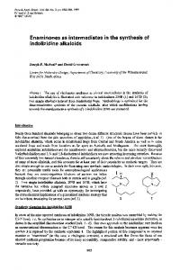 Enaminones as intermediates in the synthesis of ... - CiteSeerX