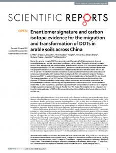 Enantiomer signature and carbon isotope ... - Semantic Scholar