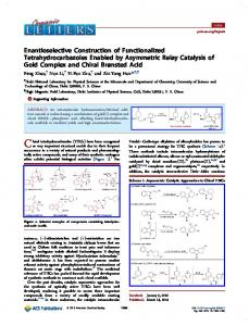 Enantioselective Construction of Functionalized ... - ACS Publications