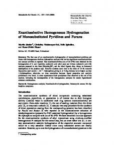 Enantioselective Homogeneous Hydrogenation of Monosubstituted ...