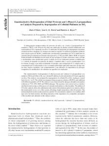 Enantioselective Hydrogenation of Ethyl Pyruvate and 1-Phenyl-1, 2