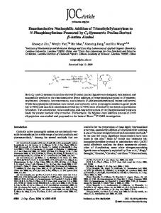 Enantioselective Nucleophilic Addition of Trimethylsilylacetylene to N ...