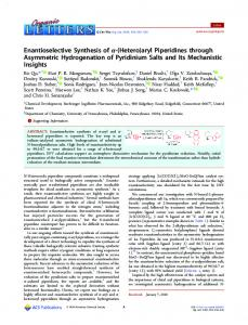 Enantioselective Synthesis of α-(Hetero)aryl ... - ACS Publications