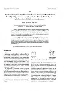 Enantioselective Synthesis of (+)-Polyzonimine, Defensive ...