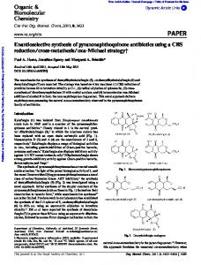Enantioselective synthesis of pyranonaphthoquinone ...
