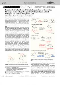 Enantioselective Synthesis of ... - Wiley Online Library