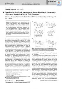 Enantioselective Total Synthesis of Blennolide H and