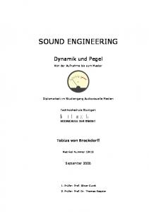 Encrypted_SOUND ENGINEERING - Dynamik und Pegel - Von der ...