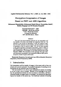 Encryption-Compression of Images Based on FMT and AES Algorithm ...