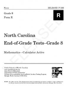 End-of-Grade Mathematics
