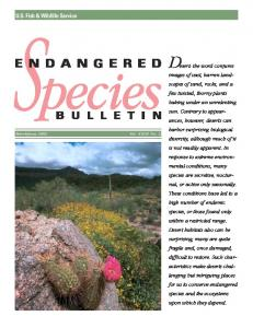 Endangered Species Bulletin - Fish and Wildlife Service