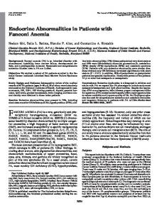 Endocrine Abnormalities in Patients with Fanconi Anemia