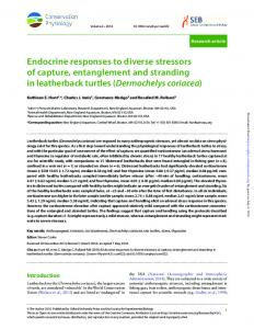 Endocrine responses to diverse stressors of capture, entanglement ...
