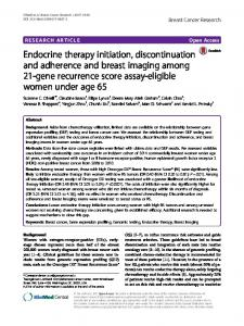 Endocrine therapy initiation, discontinuation and adherence and ...