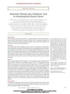 Endocrine Therapy plus Zoledronic Acid in ...