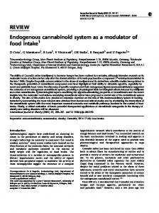 Endogenous cannabinoid system as a modulator of food intake - Nature