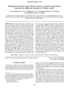 Endogenous fraction and urinary recovery of purine derivatives ...