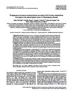 Endogenous hormone concentrations correlate with ... - Oxford Journals