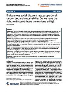Endogenous social discount rate, proportional carbon tax, and ...