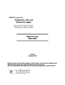 Endogenous value and Financial Fragility