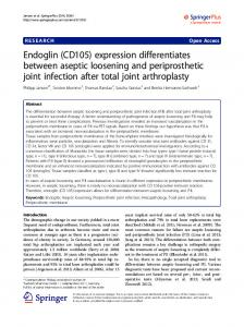 Endoglin (CD105) expression differentiates between aseptic ...