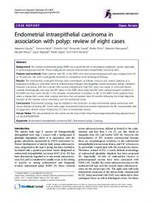 Endometrial intraepithelial carcinoma in association ... - BioMedSearch
