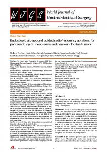 Endoscopic ultrasound guided radiofrequency ablation, for pancreatic ...
