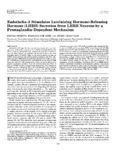 Endothelin-3 Stimulates Luteinizing Hormone-Releasing Hormone ...