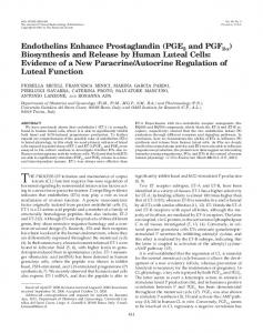 Endothelins Enhance Prostaglandin (PGE2 and PGF2 ) Biosynthesis ...