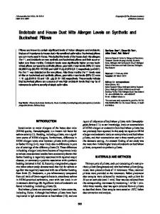 Endotoxin and House Dust Mite Allergen Levels ... - KoreaMed Synapse