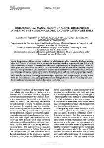 ENdOvAScuLAR mANAGEmENT Of AORTIc ...