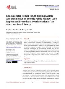 Endovascular Repair for Abdominal Aortic Aneurysm with an Ectopic