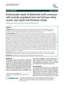 Endovascular repair of abdominal aortic aneurysm with ... - Core