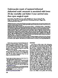 Endovascular repair of ruptured infrarenal abdominal aortic aneurysm ...