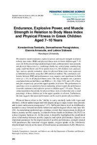 Endurance, Explosive Power, and Muscle Strength in Relation to Body ...