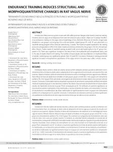 endurance training induces structural and