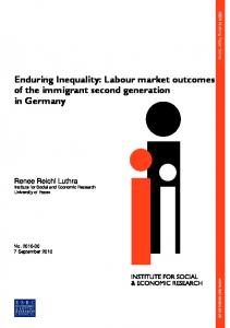 Enduring Inequality: Labour market outcomes of the ... - CiteSeerX