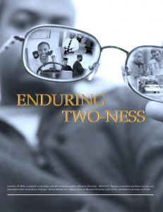 enduring two-ness enduring two-ness - Roper Center