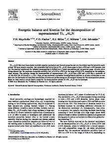 Energetic balance and kinetics for the decomposition