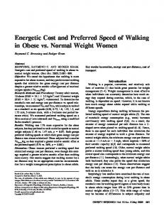 Energetic Cost and Preferred Speed of Walking ... - Wiley Online Library