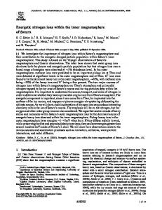 Energetic nitrogen ions within the inner magnetosphere of ... - Virginia