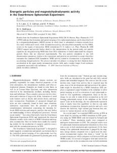 Energetic particles and magnetohydrodynamic ... - Semantic Scholar