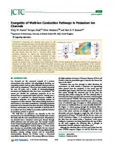 Energetics of Multi-Ion Conduction Pathways in Potassium Ion Channels