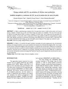 Energy analysis and CO2 eq emissions of chicken meat production ...