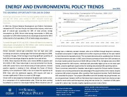 Energy and Environmental Policy Trends - The School of Public Policy
